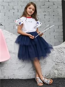 乐鲨童装乐鲨2020新款纱裙