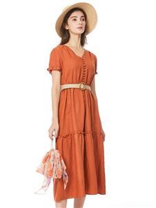 索玛2020收腰连衣裙