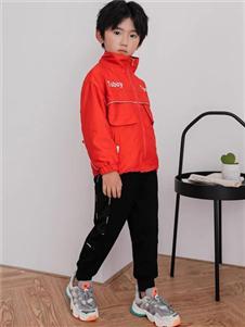 TUBOY图零钱红色外套