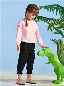 红蜻蜓时尚粉色卫衣