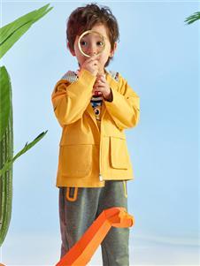 红蜻蜓时尚黄色外套