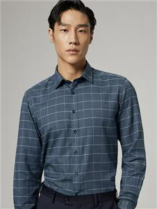 九牧王2020秋新款格子衬衫