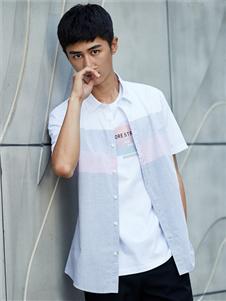 杉杉男装夏短袖衬衫