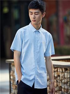 杉杉男装杉杉男装新款浅蓝色衬衫