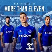 hummelx埃弗顿2020/21新赛季球衣正式发布
