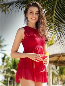 安莉芳内衣安莉芳时尚红色泳衣