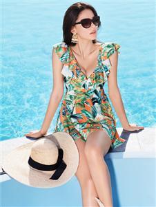 安莉芳内衣安莉芳性感印花泳衣