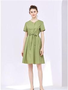 纷漫女装纷漫纯色连衣裙