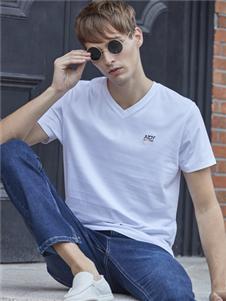 爱迪丹顿男装爱迪丹顿新款白色T恤