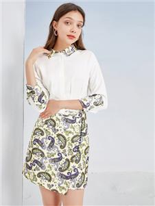 三彩女装三彩2020连衣裙
