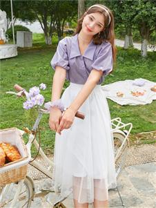 三彩女装三彩2020早秋甜美套装裙