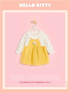 Hello Kitty女童可愛拼接連衣裙