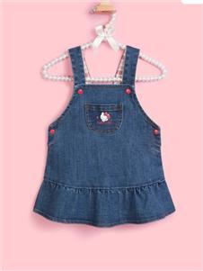 Hello Kitty2020早秋牛仔背帶裙