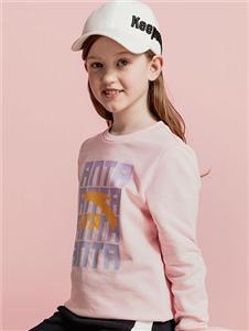 安踏童装安踏童装2020秋装粉色T恤