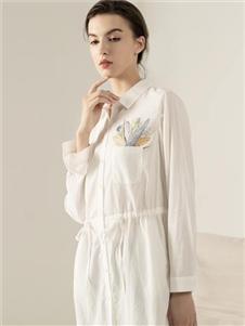 约布女装约布衬衫款连衣裙