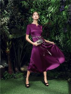 尚约女装尚约纯色连衣裙
