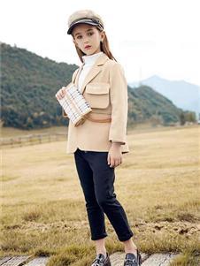 莉莉日记卡其色西装外套