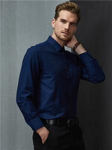 富绅男装蓝色衬衫