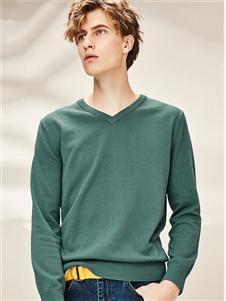 佐丹奴男士绿色卫衣