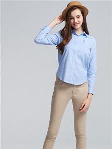 佐丹奴女士蓝色衬衫