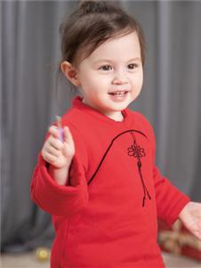婴姿坊童装婴姿坊红色时尚新款