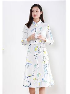 片断女装片断2020新款衬衫裙