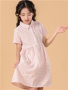 七彩摇篮女童格子连衣裙 款号397399