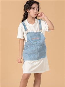 七彩摇篮女童夏装两件套 款号397415