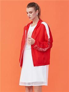 五色风马女装五色风马新款红色外套