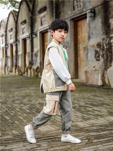 棉绘米色夹克外套