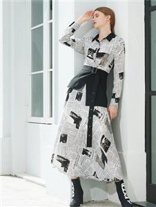 例格女装例格女装2020秋个性衬衫裙