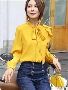 MEIZHINV魅之女黄色衬衫