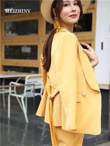 MEIZHINV魅之女黄色外套