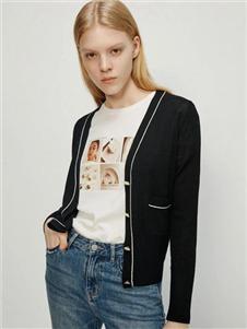 艾诺丝雅诗女装艾诺丝雅诗2020秋装针织开衫