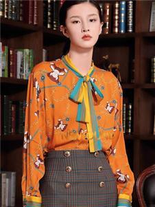 纽方格纹半身裙