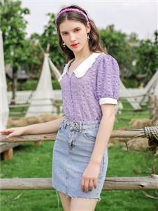 法思莉紫色上衣