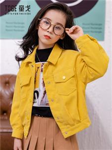童戈女童时尚黄色外套