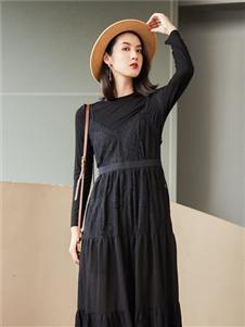 麗迪莎2020黑色連衣裙