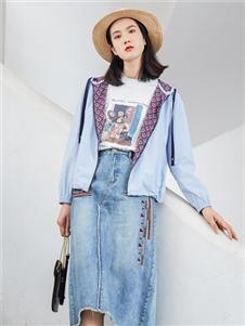 麗迪莎2020牛仔長裙