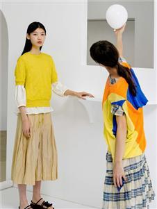 播女装播女装黄色上衣