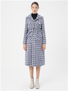 LeeMonsan抹上女裝2020秋冬格子大衣