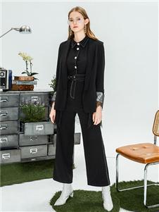 LeeMonsan抹上女裝2020秋冬黑色套裝