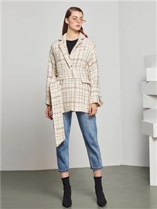 点占女装点占2020秋冬新款格子外套