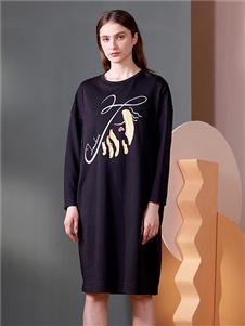 梵凯女装2020秋冬装长袖裙