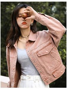 谜秀新款粉色外套
