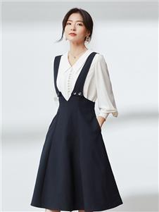 优衣美女装2020秋冬装背带裙