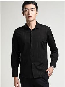 依立腾男装依立腾新款黑色衬衫