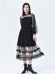 依妙女装2020秋冬装连衣裙