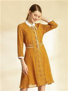 吉蒂女装2020秋冬装连衣裙