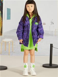 一度童装紫色外套